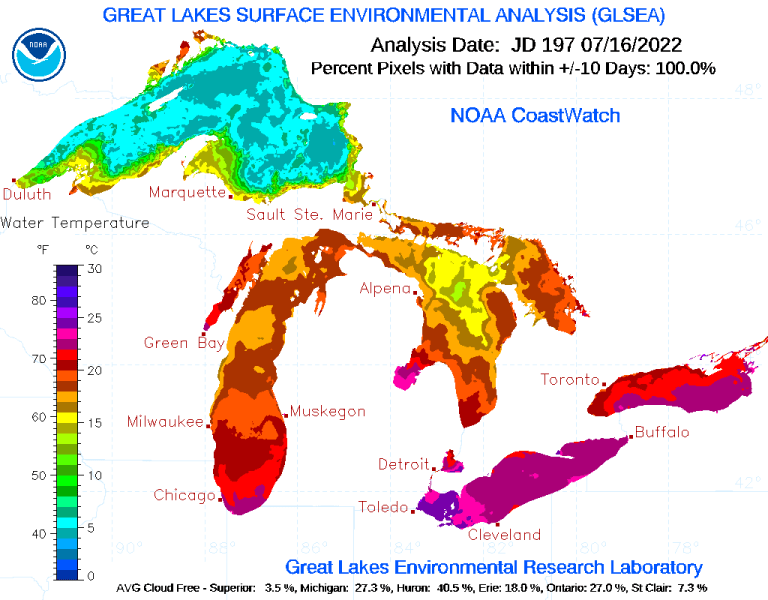 Great Lakes Current Ice Coverage 2021