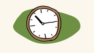 Image: drawing of clock