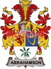 abrahamson coat of arms family crest