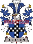 aslaksen coat of arms family crest
