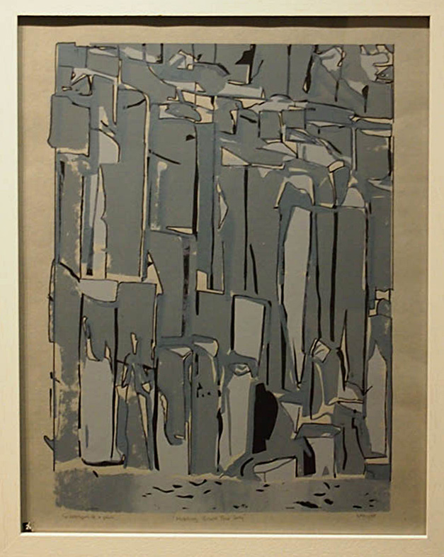 Barbara Taylor Holding Back the Sea 48x39cm; Screen print and pen £100