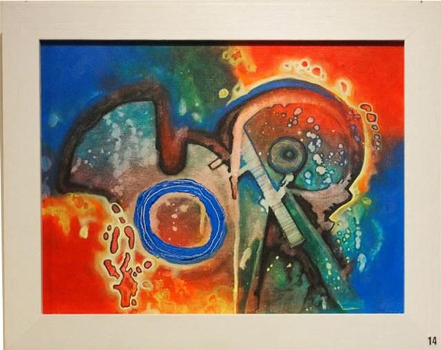 Shane Swann Chemical Reaction 38x47cm; Acrylics £170