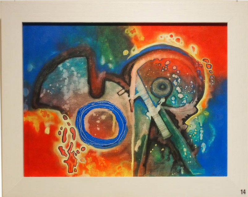 Shane Swann Chemical Reaction 38x47cm; Acrylics £170