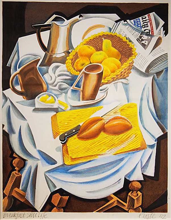 Peter Froste Breakfast Still Life 53x44cm; Watercolours, gouache, pencil £265