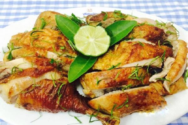 thịt gà nướng lá chanh