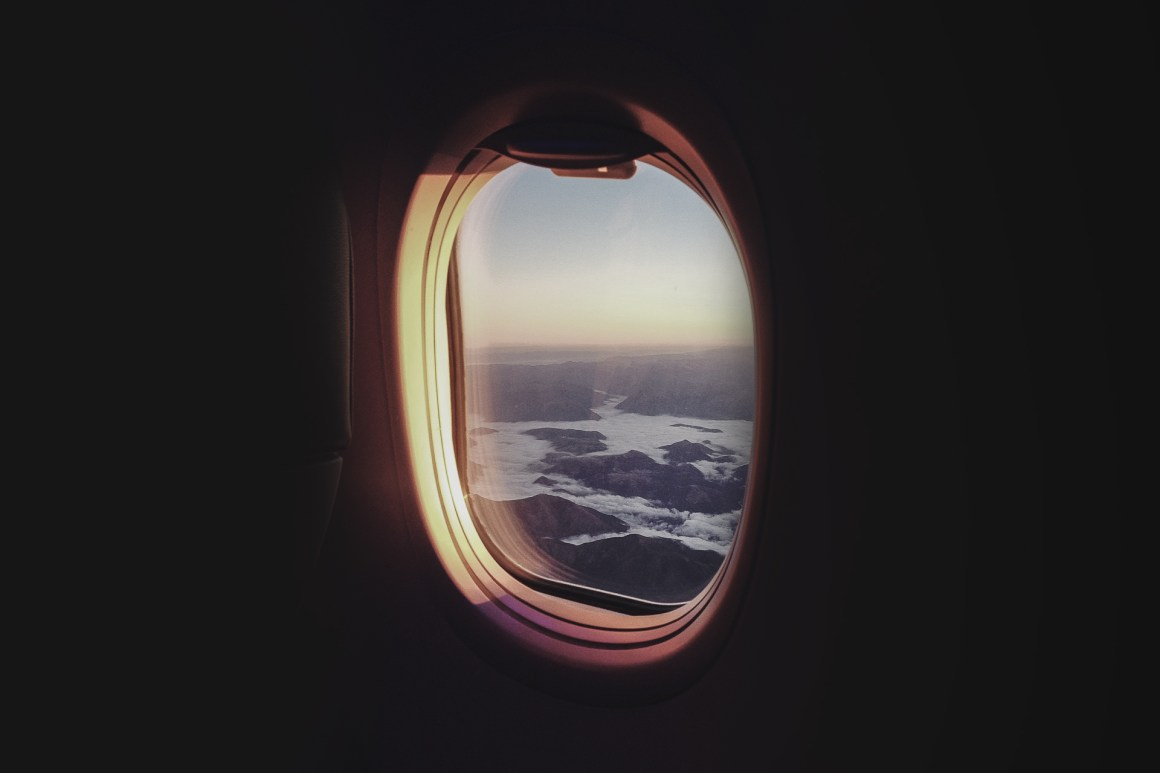 View from the window of a plane