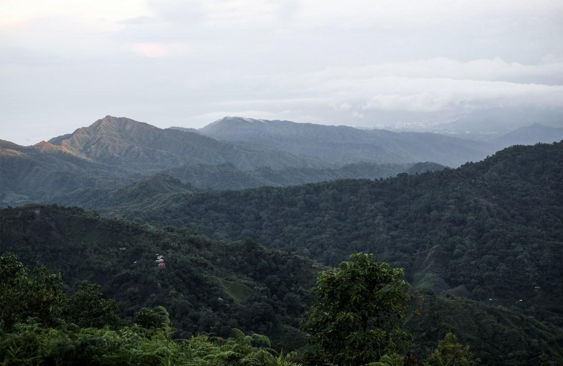 mountains green