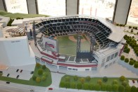 Model view from the south side of SunTrust Park.