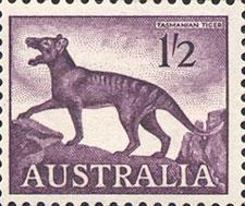 Tasmanian tiger stamp