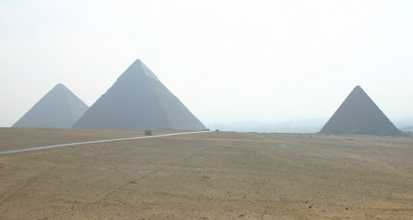 The pyramids on the Giza Plateau, Egypt