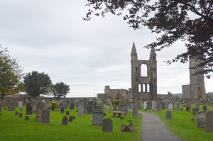 Ancient cemetery at St. Andrews castle