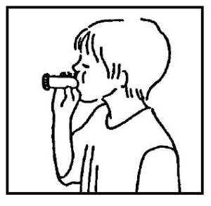 Asthma patient illustration