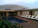 Terraza cubierta y móvil con aluminio y policarbonato