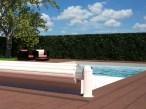 La solución económica para cubrir la piscina