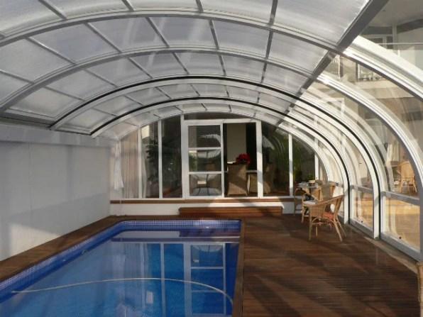 Cupula para piscina en Menorca