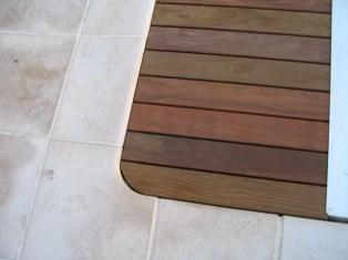 Adaptación de la madera de la tapa plana de la piscina