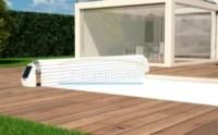 Cubierta automática para piscina con motor solar