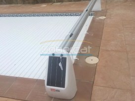 cubierta piscina enrollable solar
