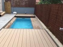 cubierta plana madera piscina