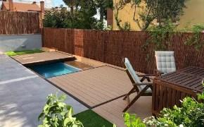 plataforma madera para piscina