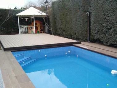 tapa movil madera piscina