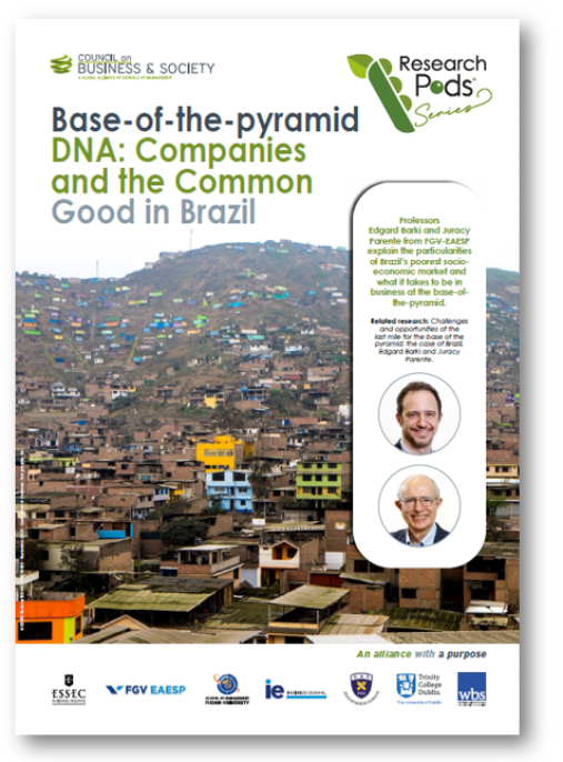 Base-of-the-Pyramid DNA takes a look at how large companies can create purposeful win-wins with local stakeholders and tough environments.