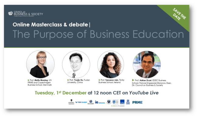 CoBS online Masterclass & Debate: The Purpose of business education