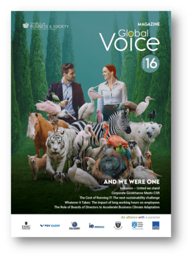 Global Voice magazine #16, Christmas 2020 now on download. 113 pages, 17 articles and 28 contributors on CSR, IT, sustainability, management, inclusivity, employee wellness and entrepreneurship.
