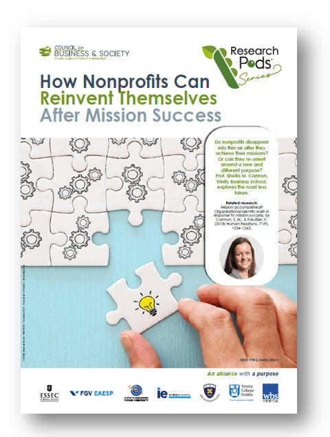 How Nonprofits Can Reinvent Themselves after Mission Success: Understand the key factors that come into play when nonprofits reach the end of a successful mission and set a framework for continued purpose and impact.