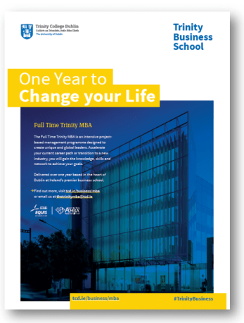 Trinity Business School MBA, Council on Business & Society