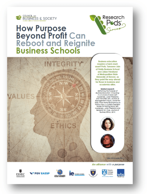 How Purpose Beyond Profit Can Reboot and Reignite Business Schools: Business education requires a hard-reset, assert Profs. Tanusree Jain of Trinity Business School and Julian Friedland of Metropolitan State University of Denver, as they point the way ahead for those in business and academia alike.