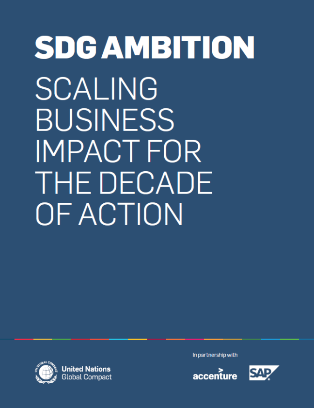 Five reads you need to implement the UN SDGs. SDG Ambition – Scaling Business Impact for the Decade of Action By UN Global Compact (2020). Published by UN Global Compact. One of the fundamental trends currently occurring is that the need for addressing sustainability challenges is moving away from being a peripheral, functional Corporate Social Responsibility (CSR) issue and instead is now demanding high level attention from boards of directors and executives. The UN Global Compact, working with many of the world's largest businesses, is providing a clear set of arguments and overview to illustrate that both effective and efficient responses to sustainability can only be achieved through strategic integration. Given the world's pressing challenges, half-hearted efforts are likely to underperform, for the planet, society, and business.