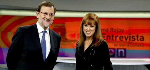20. Rajoy y Lomana, cómodos en entrevista (Efe)