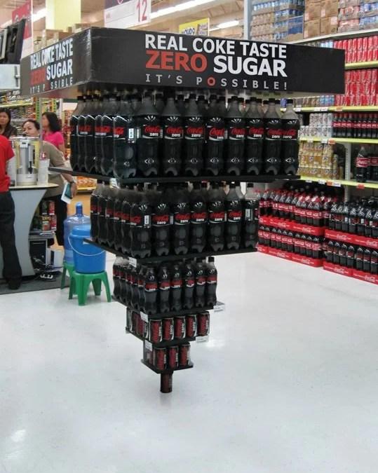 La pyramide inversée Coca-Cola Zéro
