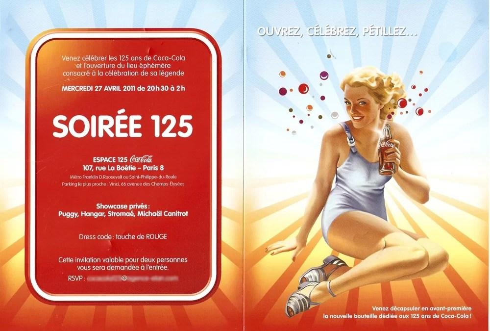 Inauguration de l'Espace 125 : Coca-Cola Web sera présent !