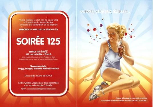 Invitation Espace 125
