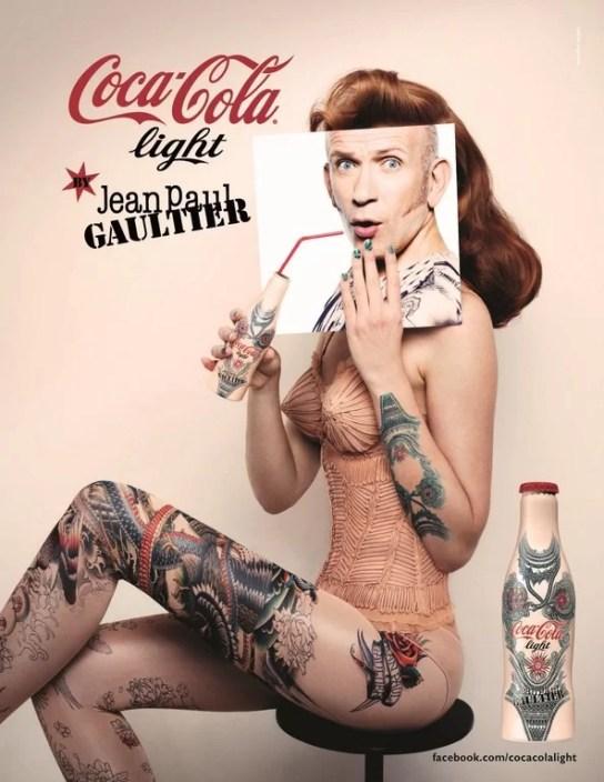 Publicité Coca-Cola Light Tatoo
