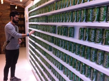 Pop-up store Coca-Cola Life à Londres