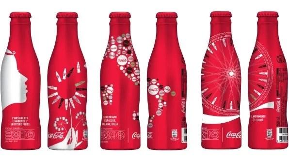Expo Milano 2015 : 3 bouteilles Coca-Cola Collector