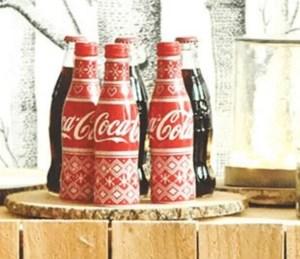 Zoom sur la future bouteille de Noël