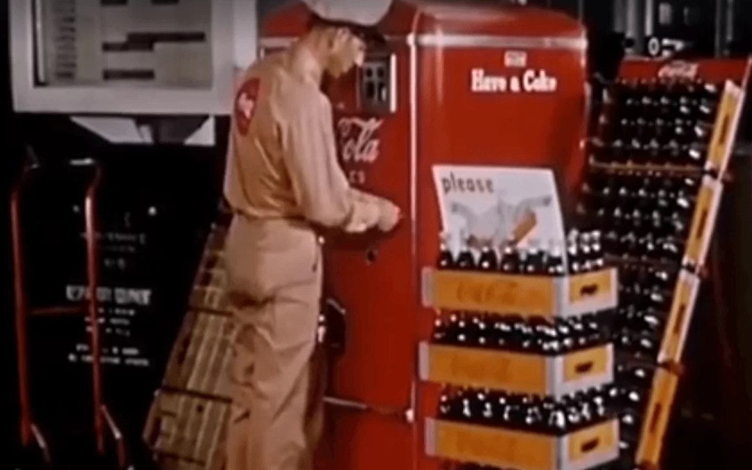Découvrez en vidéo l'entretien d'un distributeur Coca-Cola des années 50