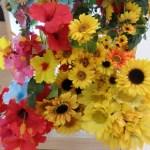 ダイソーの造花ひまわりやハイビスカスで夏インテリアを華やかに!