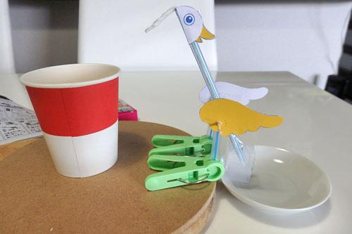 水飲み鳥 工作 水 移動 実験 100均