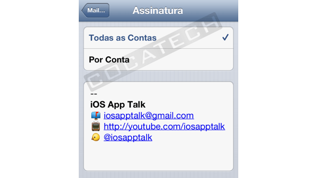 Photo of Assinatura HTML no Mail do iOS