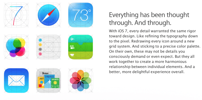 Photo of Novos ícones do iOS 7 vazados no site da Apple?