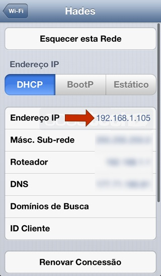 Foto de Qual o IP Local do meu iPhone?