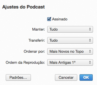 Photo of Cadê os Ajustes Personalizados de Podcasts no iTunes 11.1?