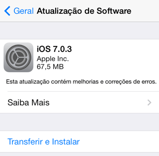 Photo of iOS 7.0.3 na Área