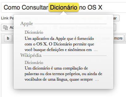 Photo of Como Consultar o Dicionário no OS X