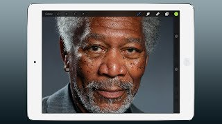 Photo of iPad Art: Morgan Freeman pintado a dedo